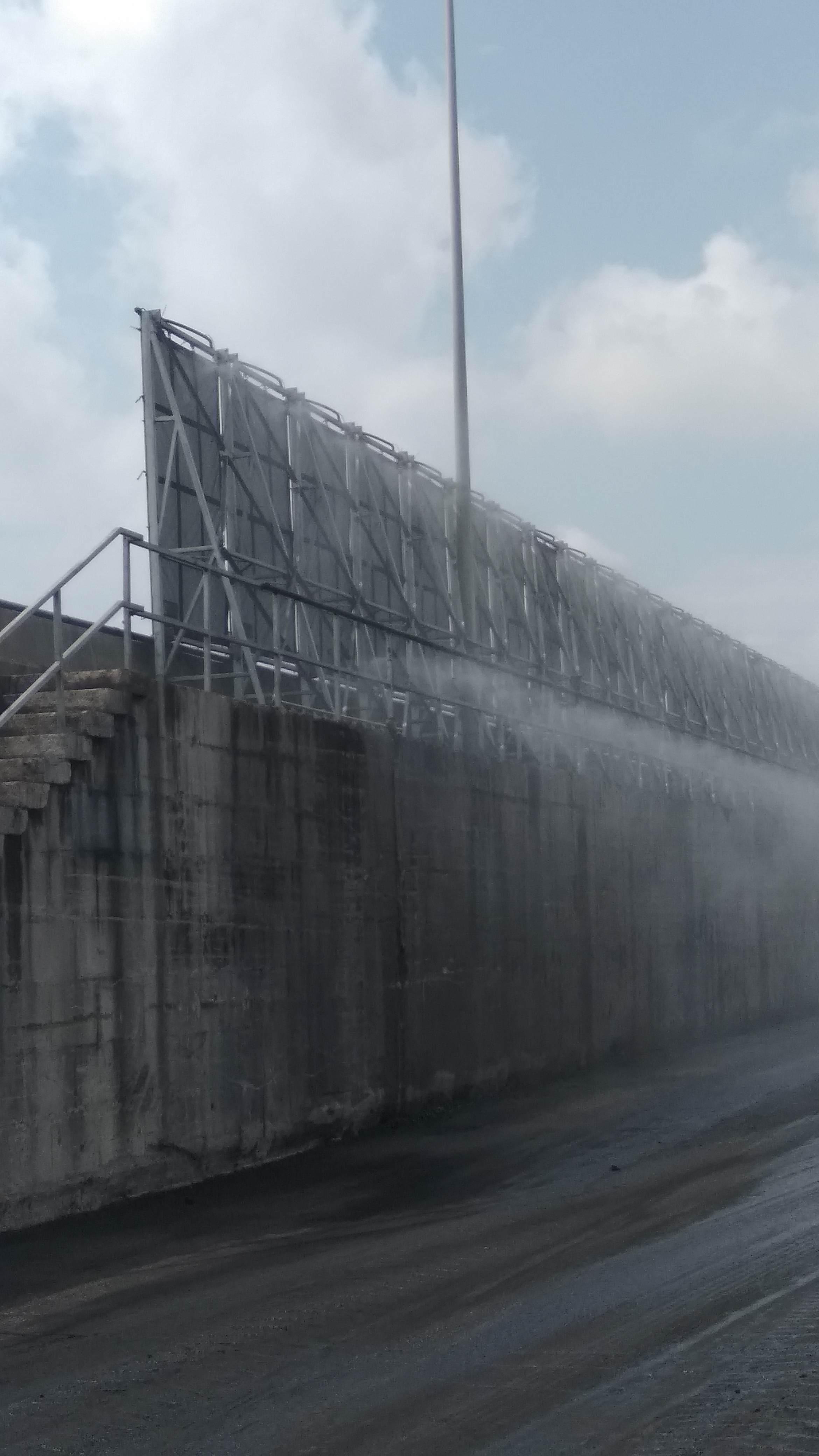 Die APB installiert einen Auffänger für die Kohlestaubpartikel im ...