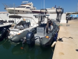 Electric boat powered by solar panels that will be used in La Savina