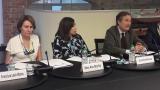 Xisca Leal, comercial de la APB, Rosa Ana Morillo, Dir. Gral de Turisme y miembro del Consejo de Administración de la APB y Joan Gual de Torrella, presidente de la APB.