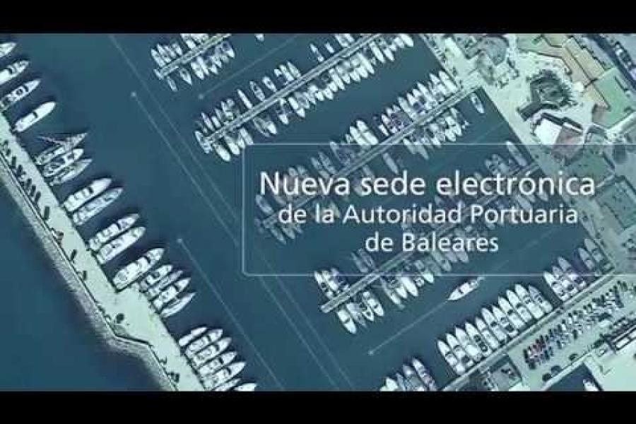 Nueva Sede Electrónica de la Autoritat Portuària de Balears.