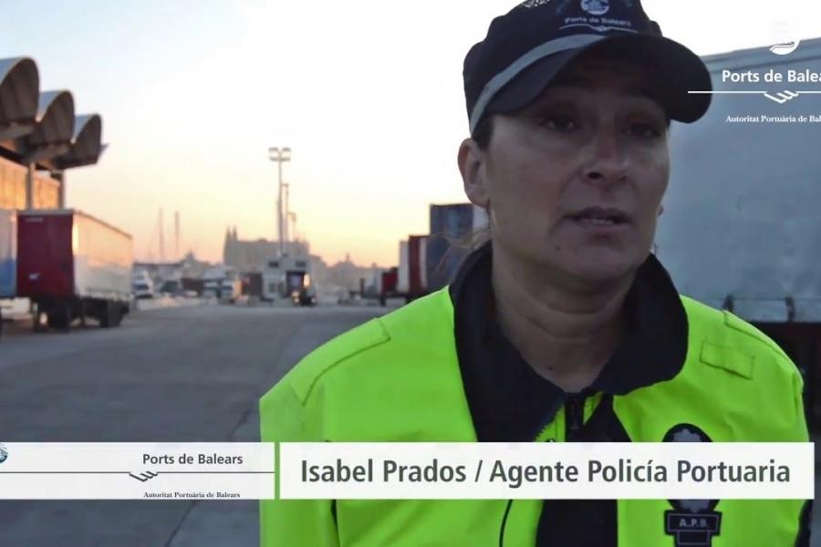 #SIENTEelpuerto: Isabel Prados, policía portuaria
